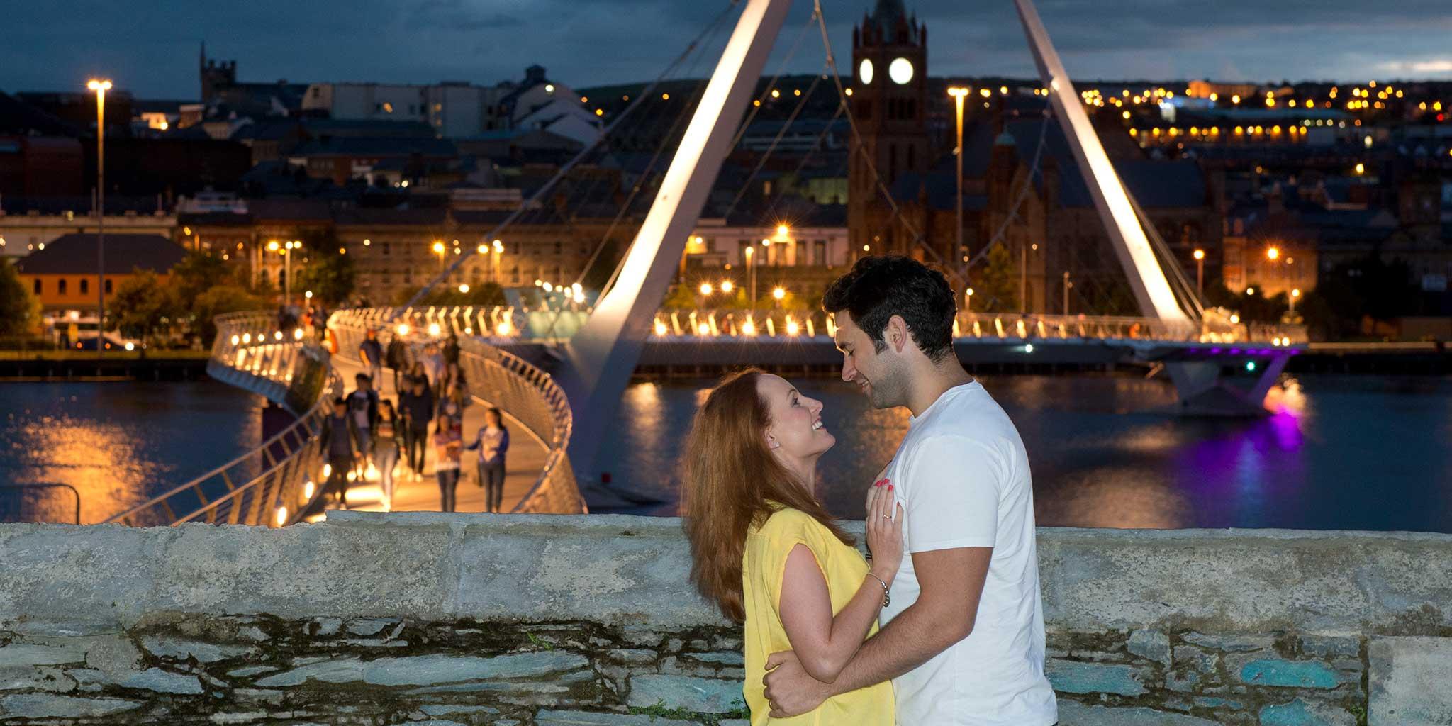 couple-enjoying-weekend-break-in-Derry