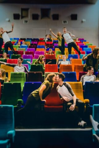 Couple having fun at Light House Cinema