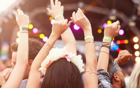 People enjoying good Music at a Festival