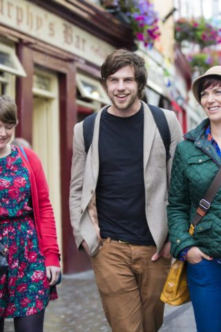 Couples Enjoying a Stroll in Galway
