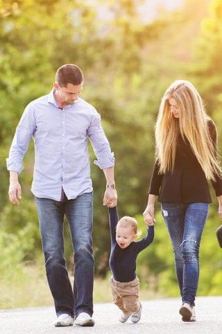 A family taking a walk near the Maldron Hotel Sandy Road