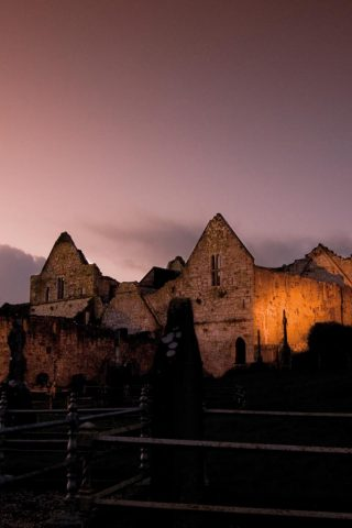 Things to do in Limerick, night view of old monastery in Limerick