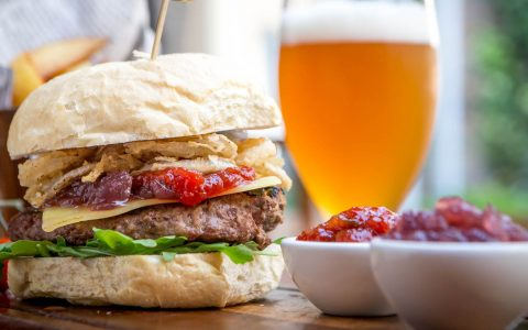 Burger & Beer at the Grain & Grill restaurant in Limerick