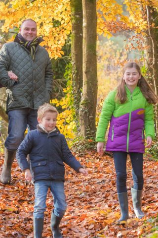 Family enjoying a stroll in the woods, family activities in Limerick