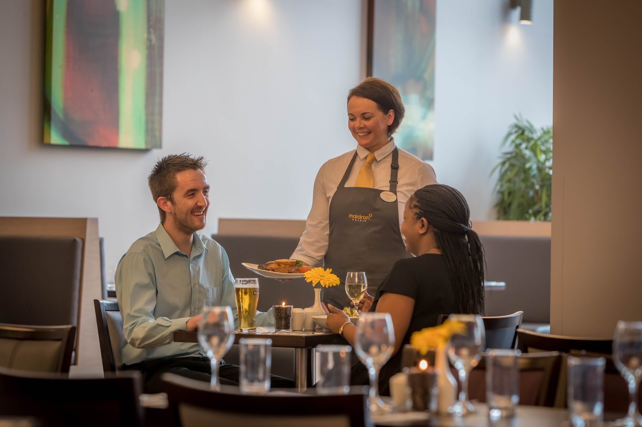 Guests dining in Maldron Hotel Tallaght restaurant