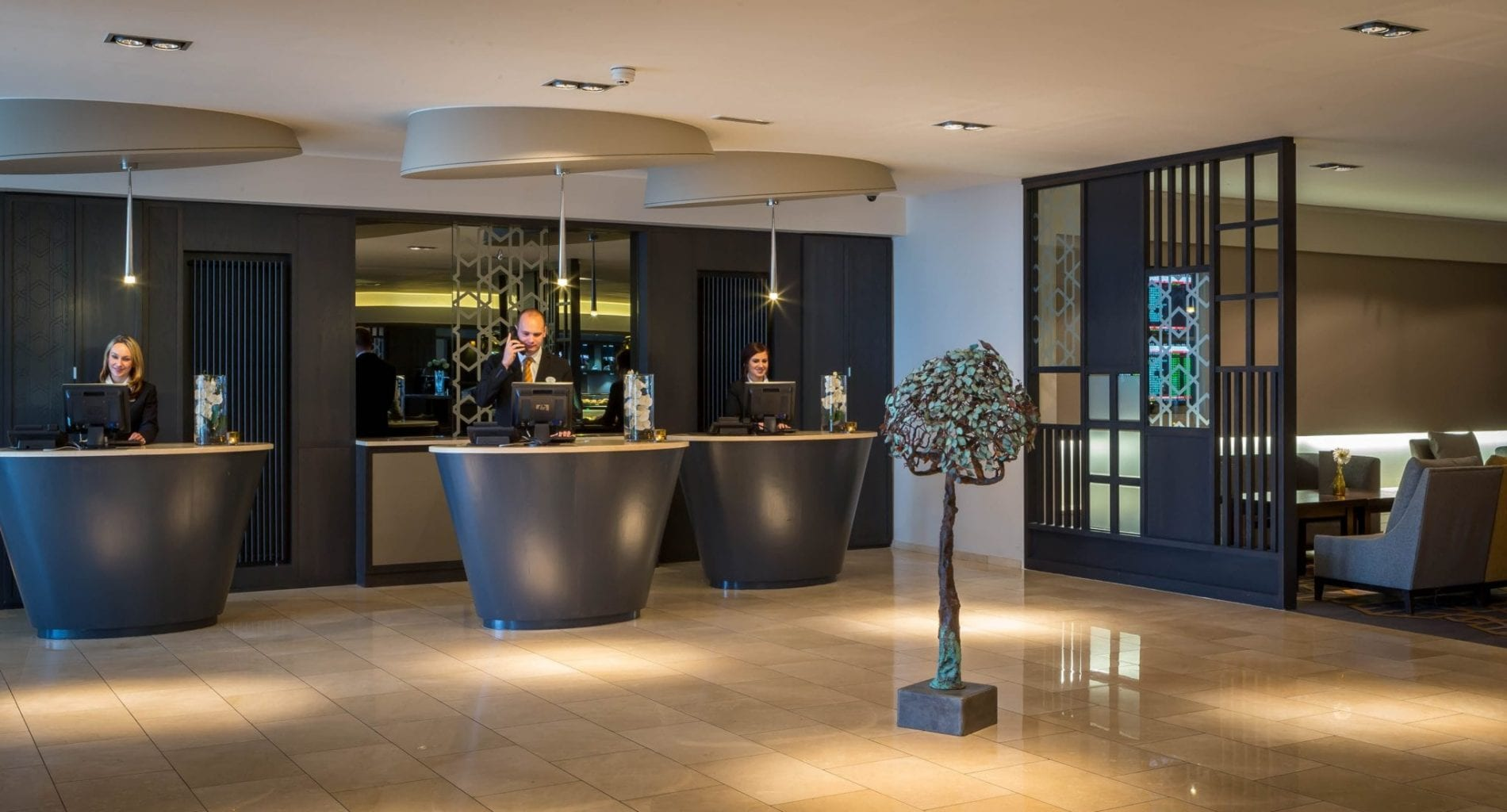 Maldron Hotel Dublin Airport friendly reception team look forward to welcoming you