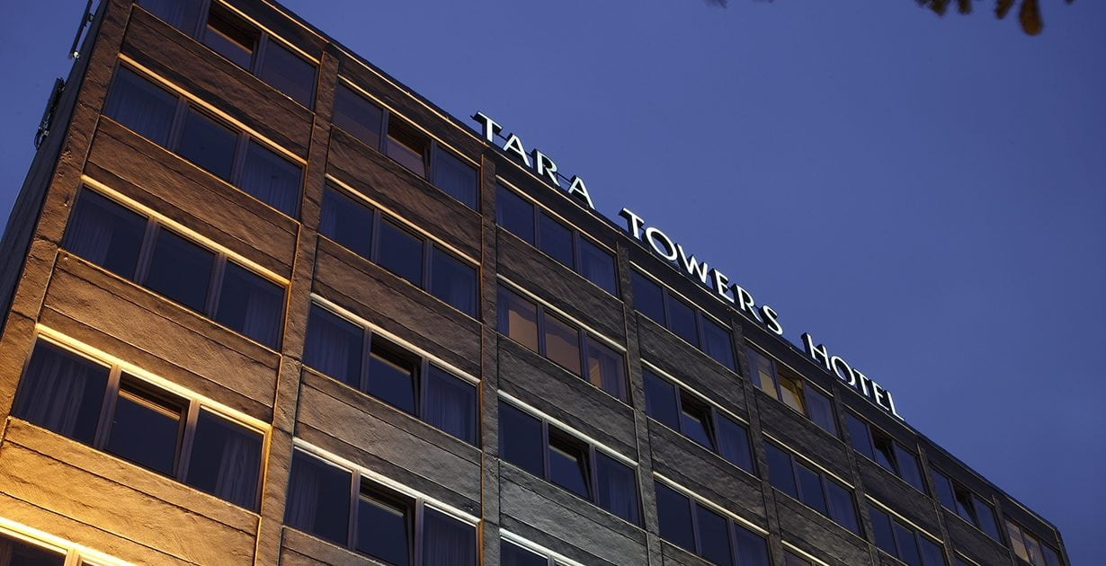 Tara Towers Hotel at Dusk