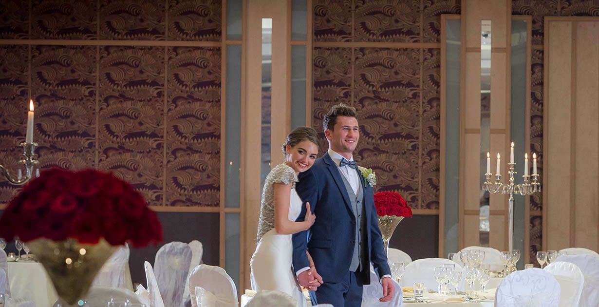 bride-and-groom-on-their-wedding-day-at-Shearwater-Hotel