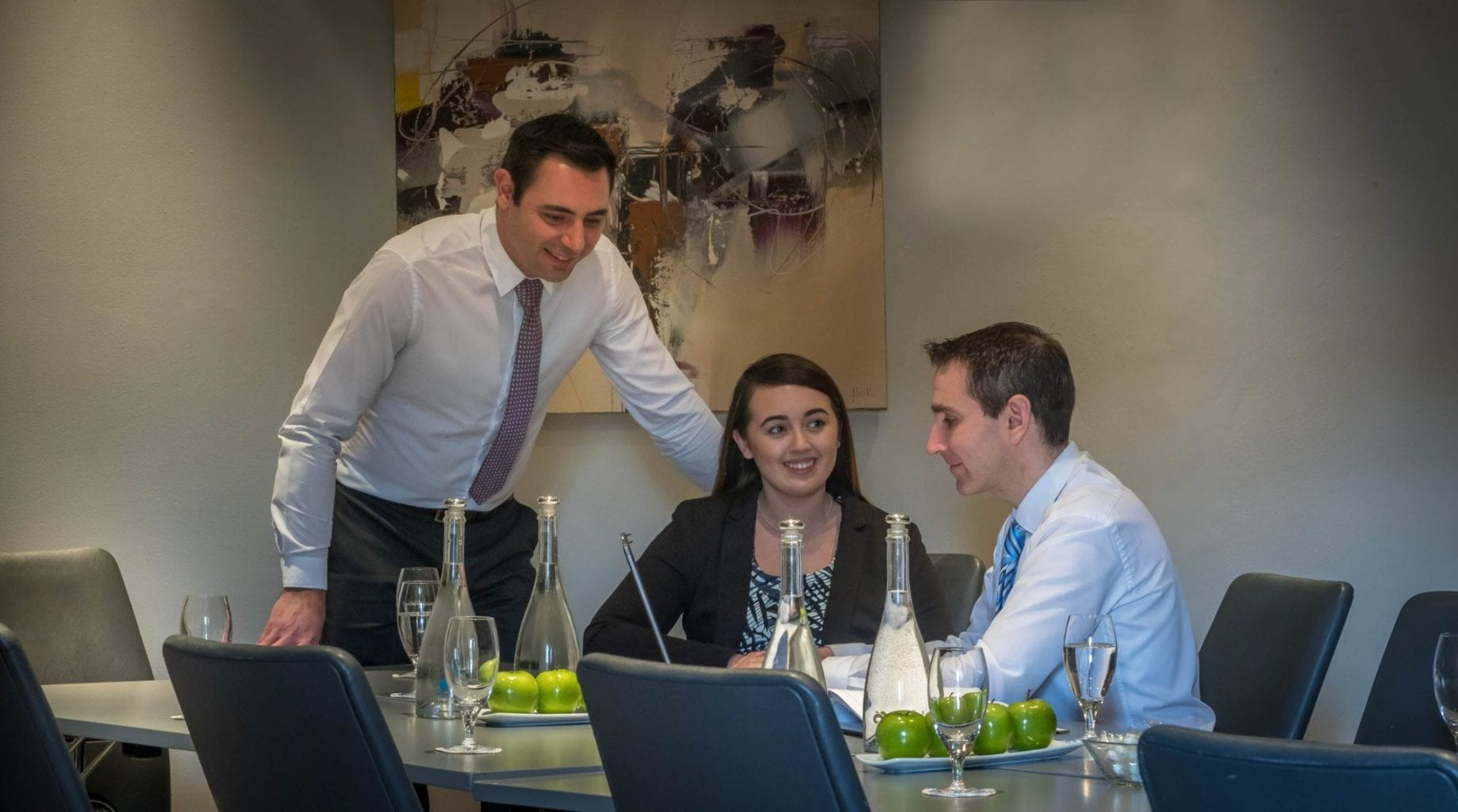 Delegates meeting in Fitzmaurice Suite at Maldron Hotel Dublin Airport
