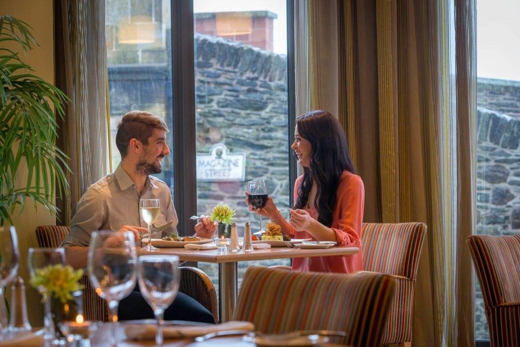 Guests enjoying dinner in Maldron Hotel Derry restaurant