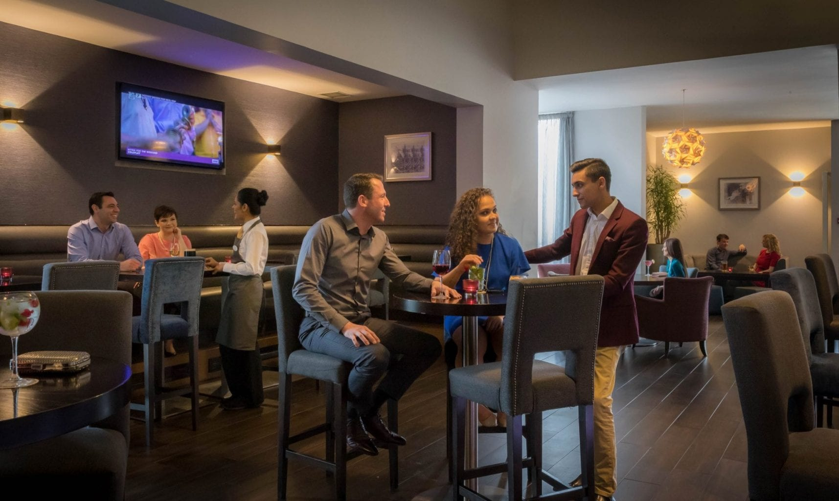 Relax and unwind in The Sky Bar at Maldron Hotel Dublin Airport