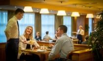 Guests enjoying delicious dining in Maldron Hotel Limerick restaurant