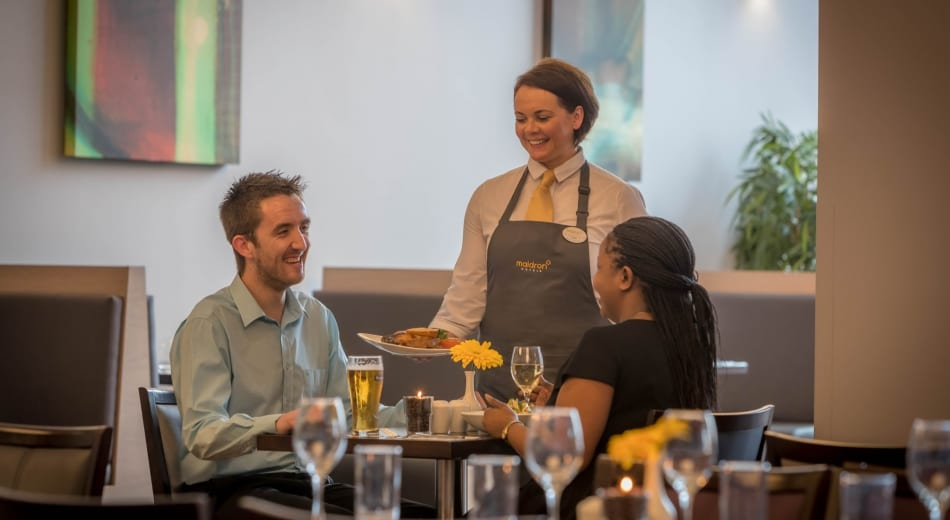 Guests dining in the Maldron Hotel Tallaght restaurant