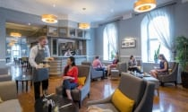Relaxed dining in Bells Bar at Maldron Hotel Cork